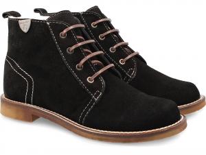 Зимние ботиночки Forester 156102 Черные на натуральном меху
