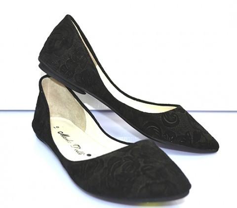 Черные и серые замшевые балетки, туфли без каблука