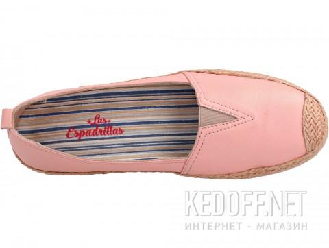 Кожаные мокасины Las Espadrillas 10119-34 розовый