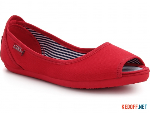 Балетки Las Espadrillas Red Canvas Ballerinas 72335-47 фото