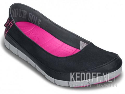 Мокасины Crocs Stretch Sole Flat 15317-02G чрный