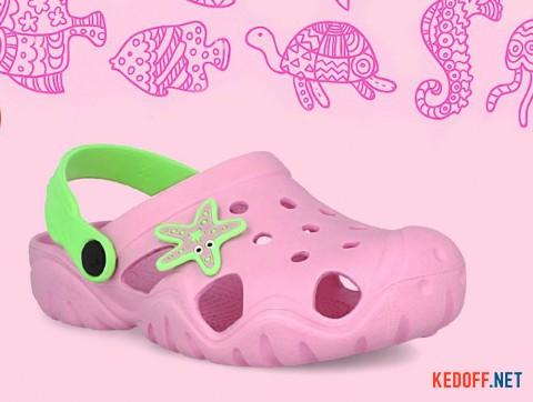 Детские кроксы Jose Amorales Pink Star 117082 розовый