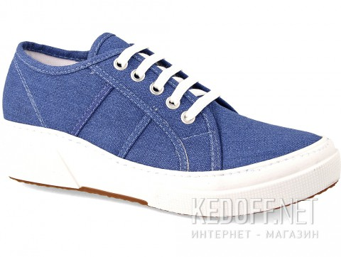 Кеды на танкетке Las Espadrillas SuperGa Heel 5366-42 Blu Canvas фото