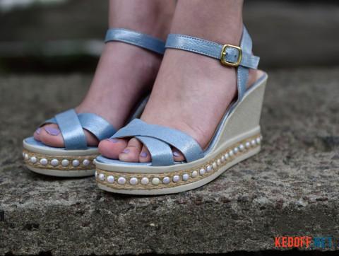 Женские сандалии Las Espadrillas 0428-813-53 голубой