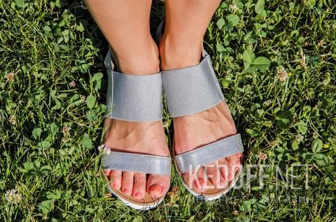 Женские сандалии Las Espadrillas 2240-14 Серебристые фото