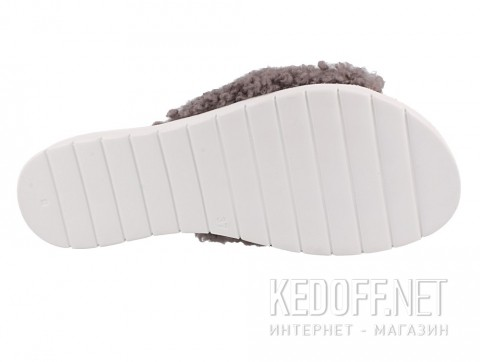 Женские шлепанцы Las Espadrillas Madagaskar Grey 20424-37 серый