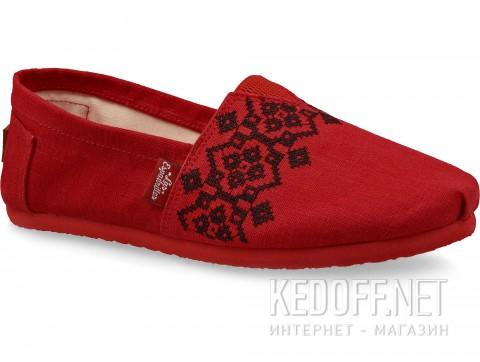 Летняя обувь Las Espadrillas Vyshyvanka 3015-75 Red & Black  фото