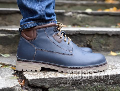 Мужские ботинки Forester 7757-705 тмно-синий