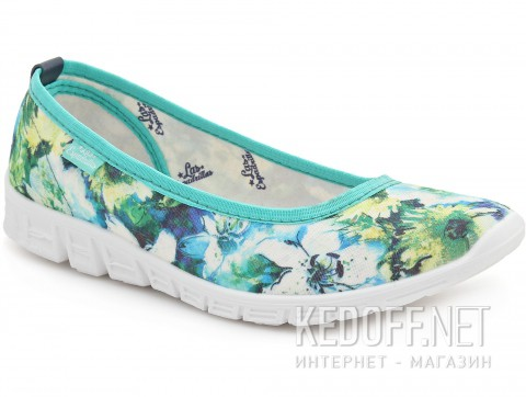 Спортивные балетки Las Espadrillas Green Flowers Motion Foam 22635-2840 фото