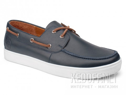 Топсайдеры Forester Yacht Marine 020216-46 Navy Leather фото