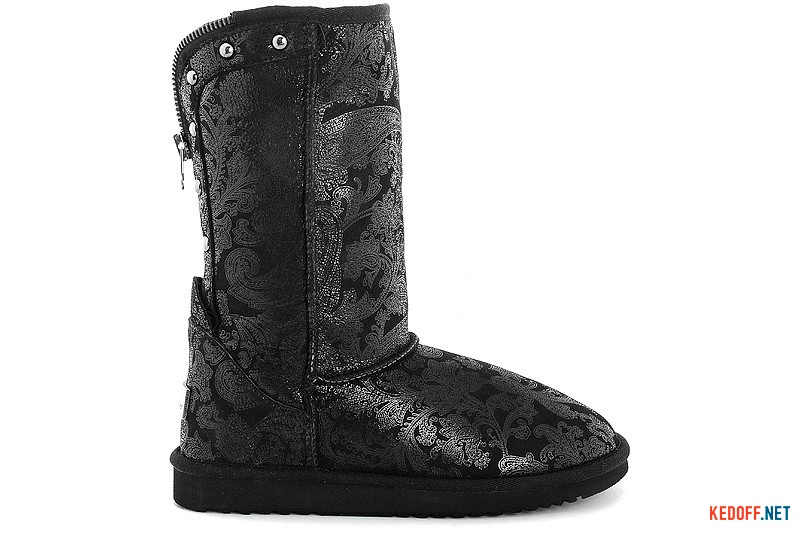 Sheepskin Boots Forester 128322-2811 Black with zipper