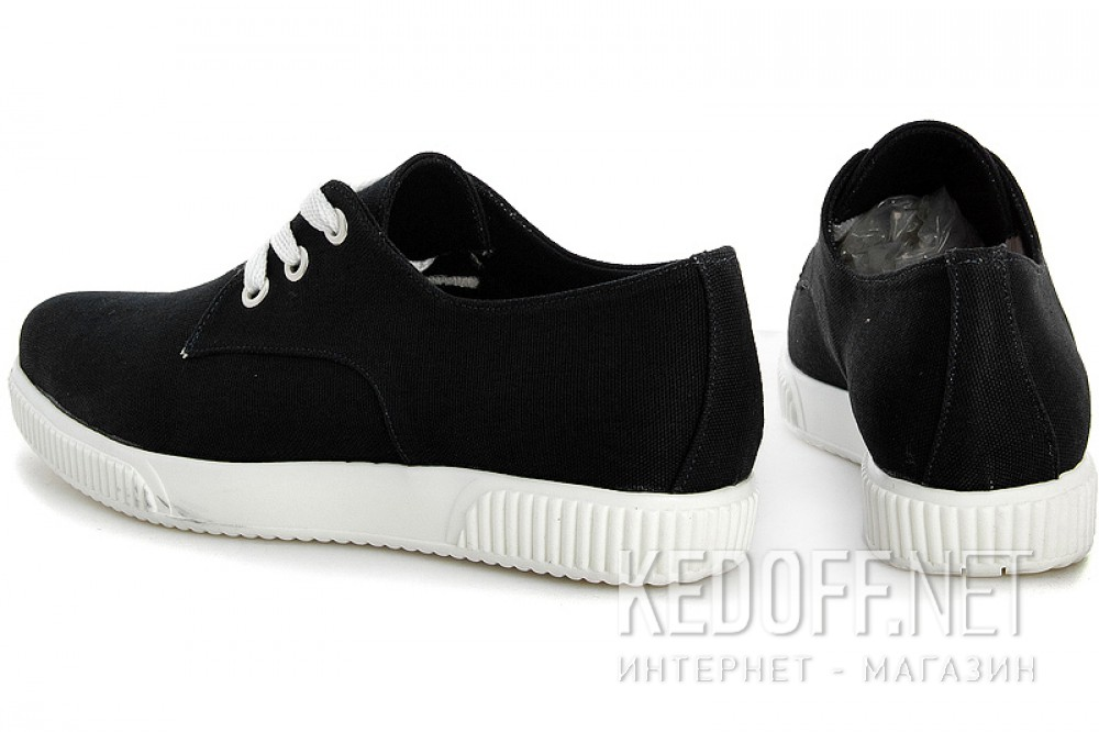 Sneakers Las Espadrillas 4574-27 Black canvas Sh