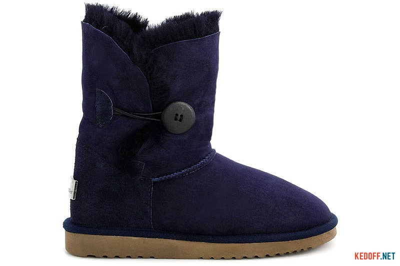 Sheepskin Boots Forester 51001-1011 Blue with a button