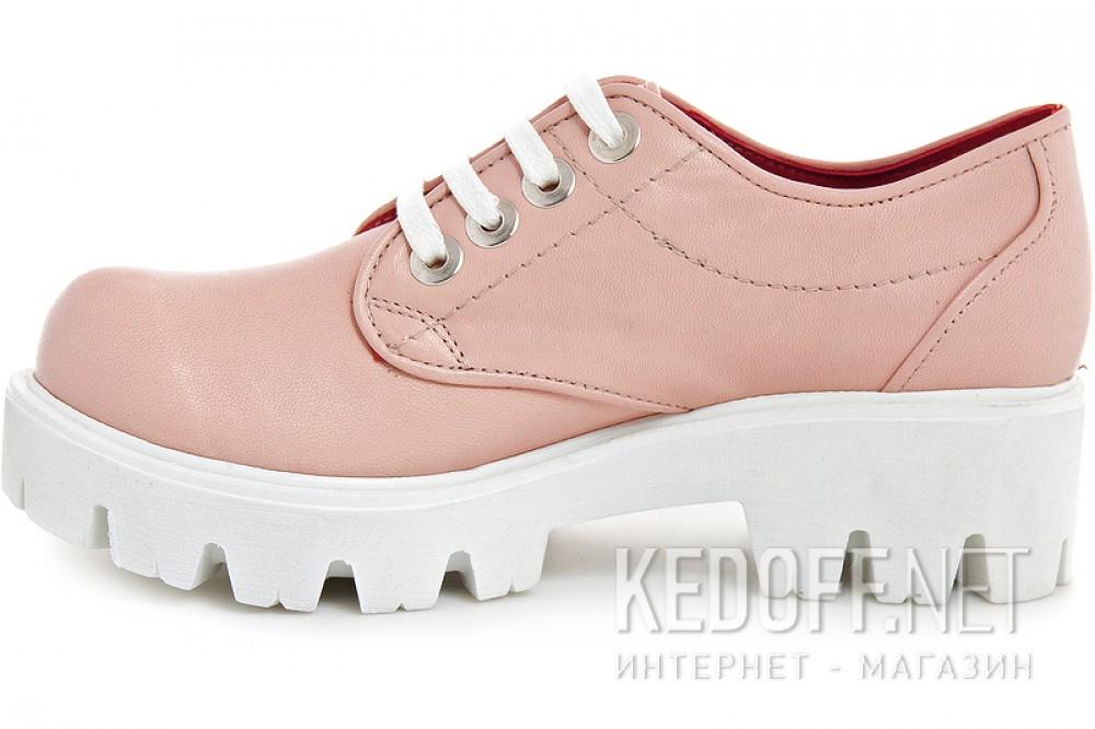 Взуття платформі Las Espadrillas Roze Quartz 658301-1 натуральна шкіра