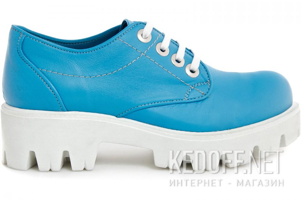 Туфлі на платформі Las Espadrillas 658301 Блакитна шкіра