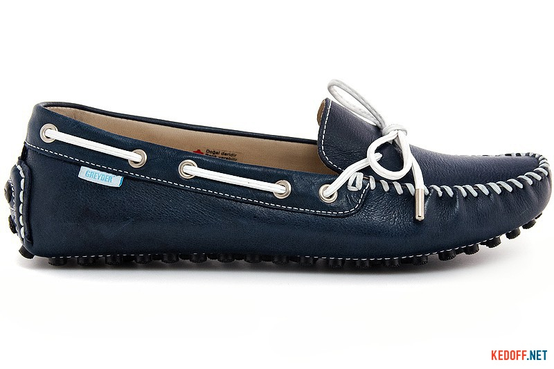 Women's loafers Greyder 8030 Blue leather