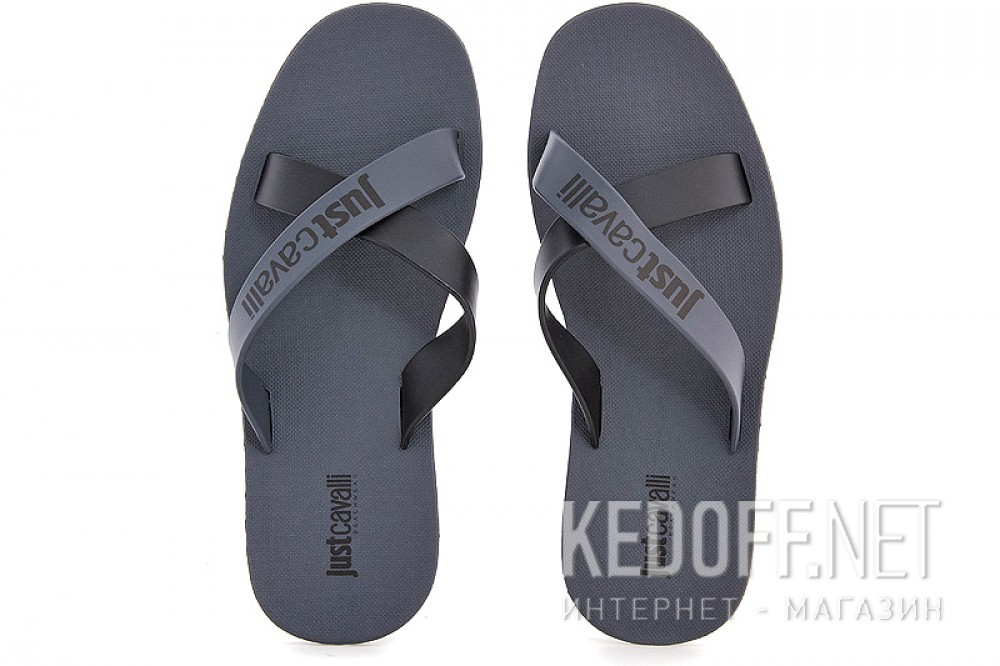Мужские шлепанцы Just Cavalli Flip Flops 570-37 Made in Italy