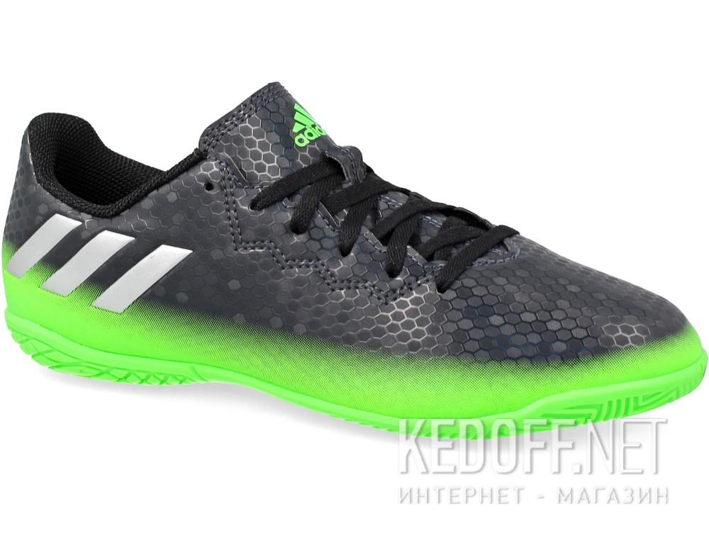 ec3e3066 Бутсы Adidas Messi 16.4 In AQ3528 унисекс (зеленый/чёрный) в ...