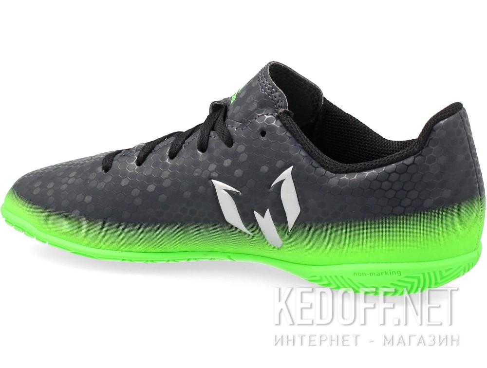 Бутсы Adidas Messi 16.4 In Junior AQ3527 унисекс   (зеленый/чёрный) купить Украина
