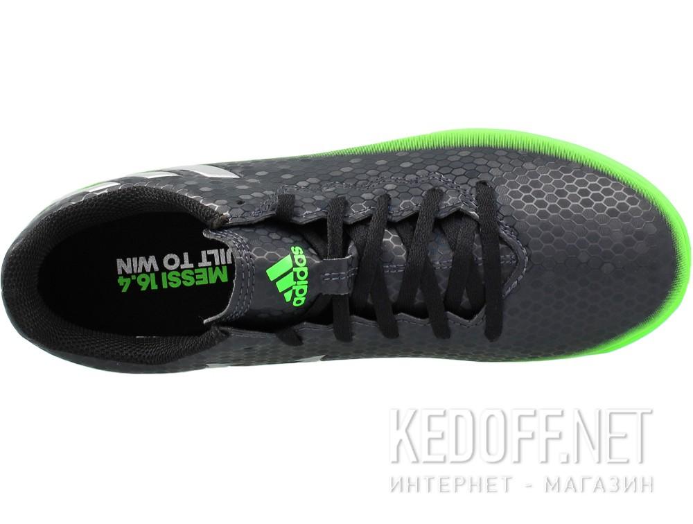 Оригинальные Бутсы Adidas Messi 16.4 In Junior AQ3527 унисекс   (зеленый/чёрный)