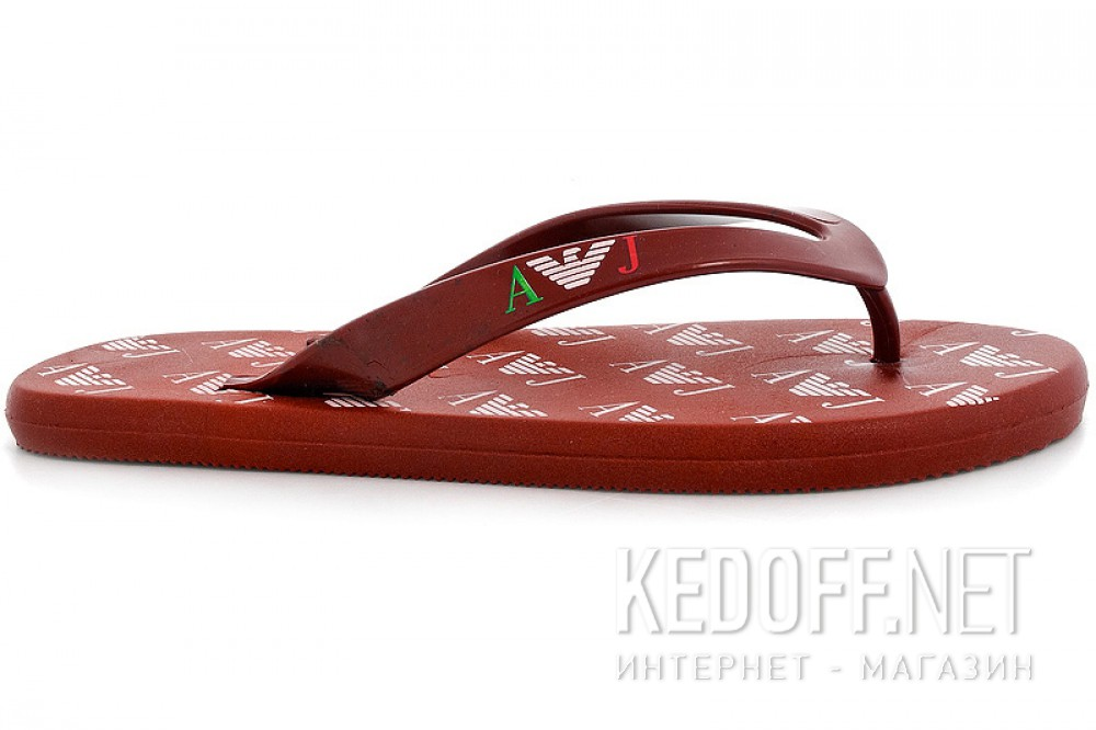 Men's Armani Jeans flip flops  R6548-47 Xk Made in Italy