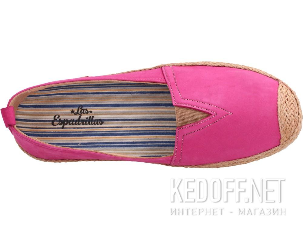 Оригинальные Кожаные мокасины Las Espadrillas 10119-24   (розовый/фиолетовый)