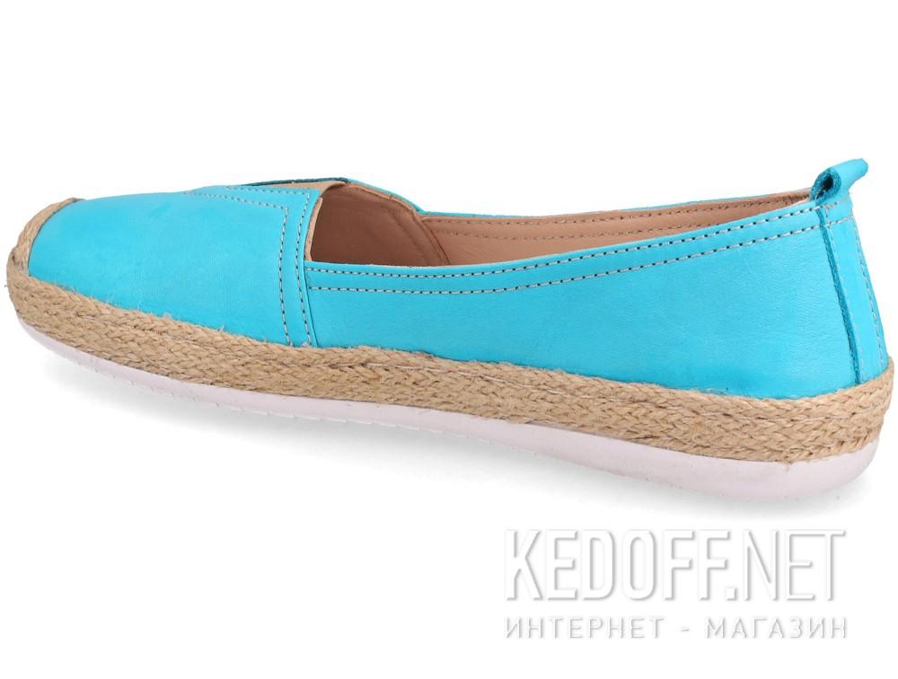 Кожаные мокасины Las Espadrillas 10119-42   (голубой) купить Украина