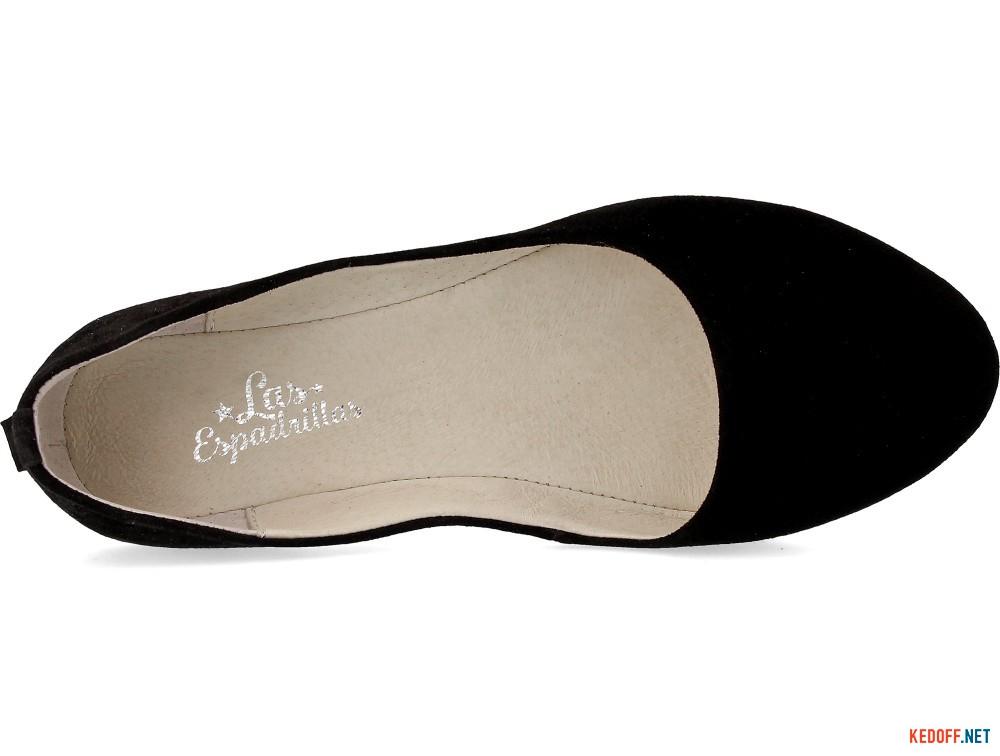 Ballerinas Las Espadrillas 200-127 Black suede-velour