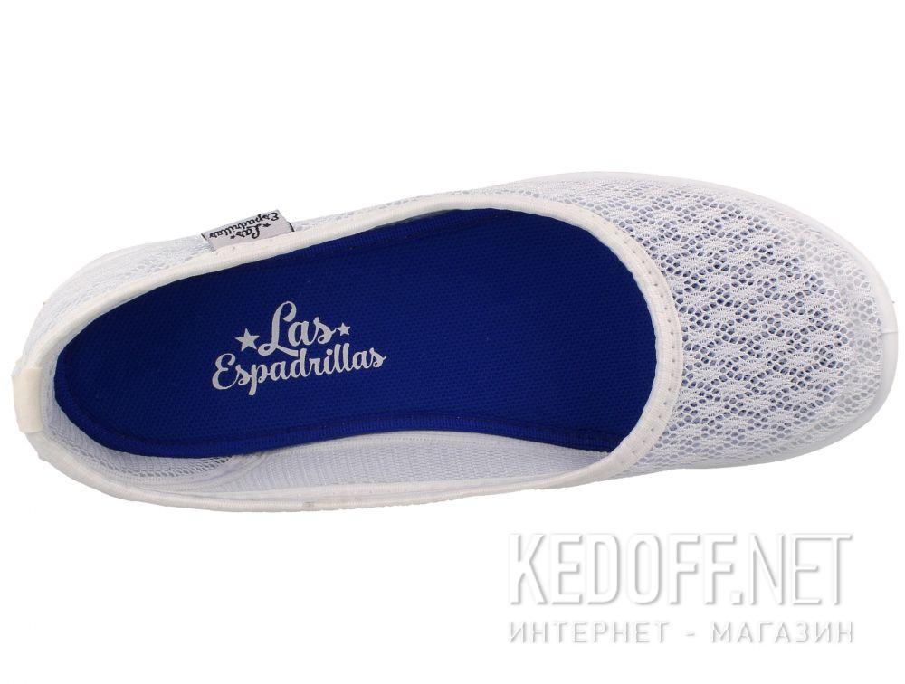 Балетки Las Espadrillas 32636-13 (белая сеточка) описание