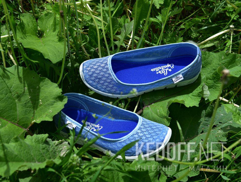 Доставка Балетки Las Espadrillas Blue Marine 32636-40 (блакитний)
