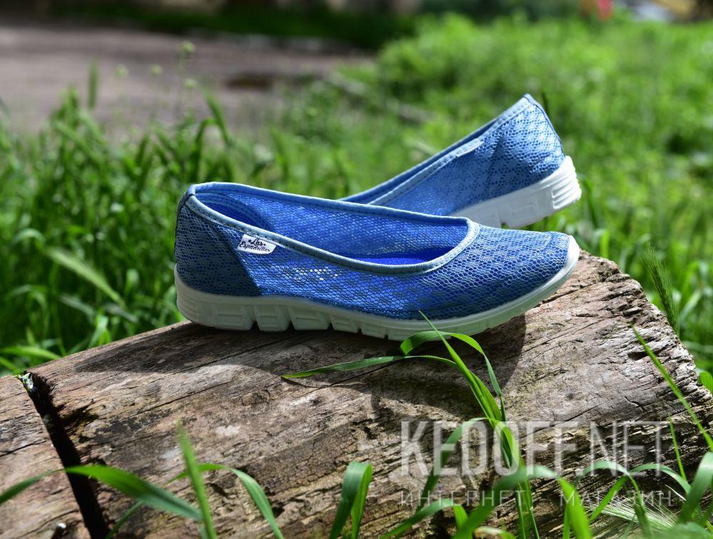 Балетки Las Espadrillas Blue Marine 32636-40 (голубая сеточка) все размеры