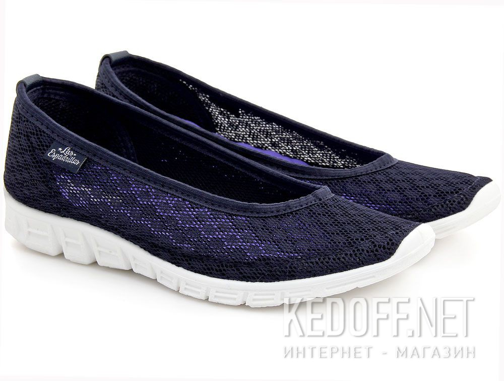 Add to cart Ballerinas Las Espadrillas 32636-89 (dark blue mesh)