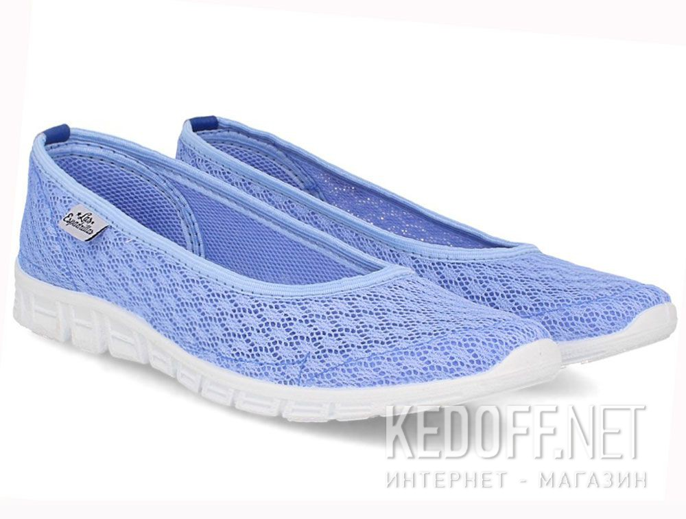 Купить Балетки Las Espadrillas Blue Marine 32636-40 (голубая сеточка)