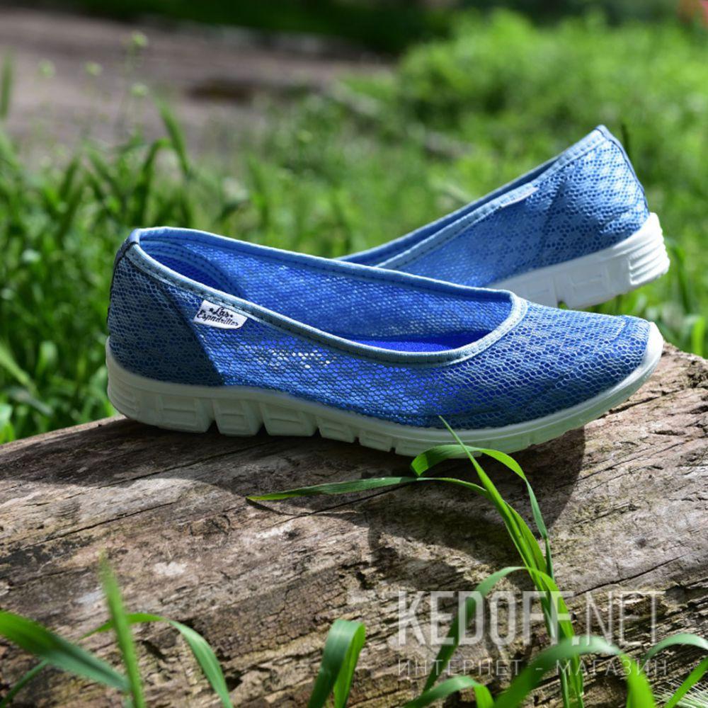 Балетки Las Espadrillas Blue Marine 32636-40 (голубая сеточка) доставка по Украине