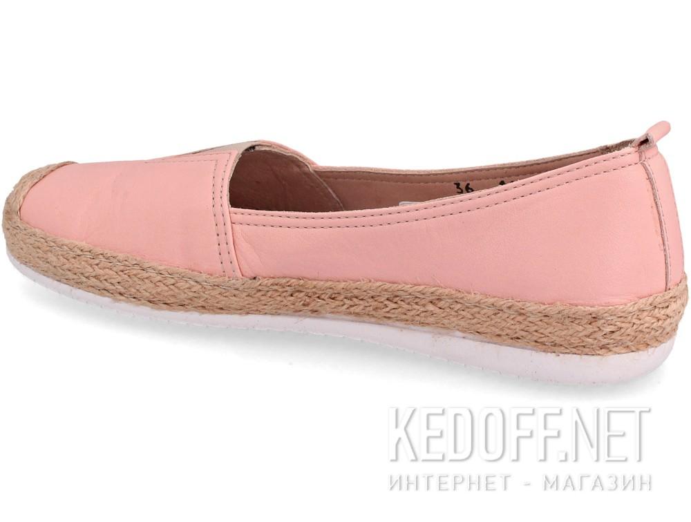 Кожаные мокасины Las Espadrillas 10119-34   (розовый) купить Украина