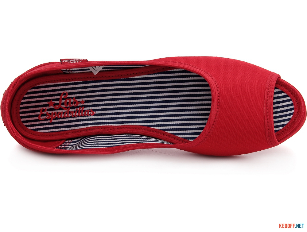 Балетки Las Espadrillas Red Canvas Ballerinas 72335-47