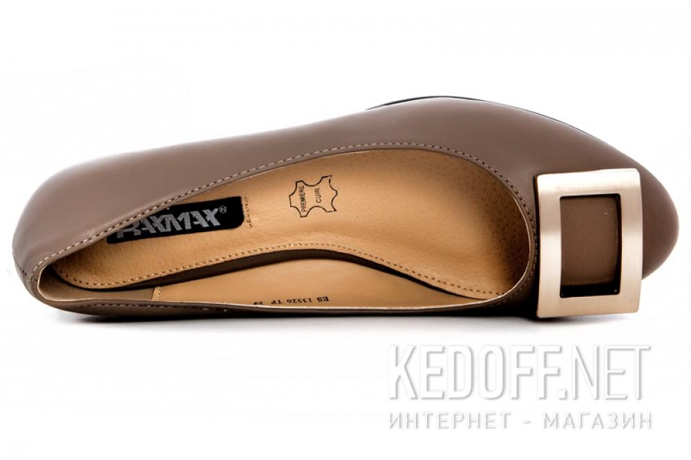 Женские лодочки Raxmax ES13526TP Кремовая кожа