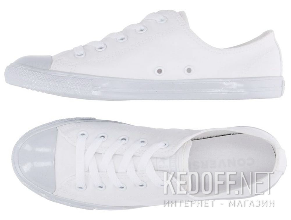 a7ac18d043e6 White sneakers Converse Chuck Tailor All Star Dainty OX 563475C купить  Украина