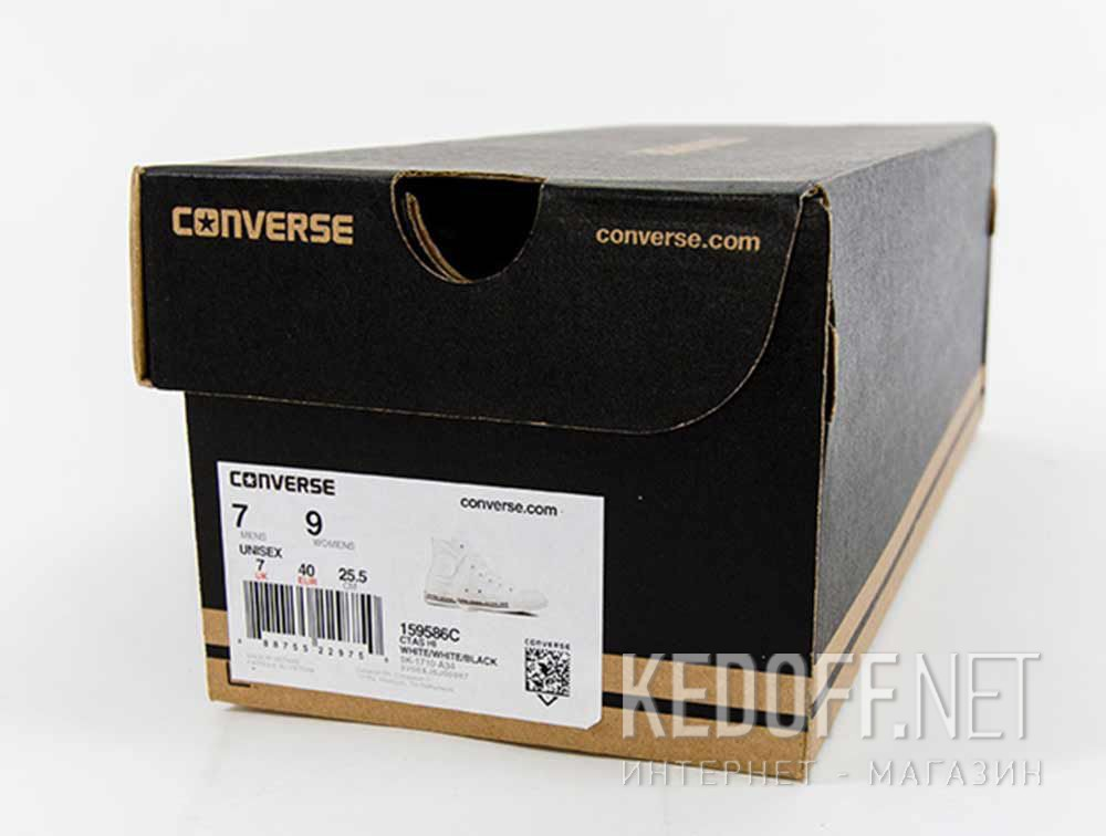 Кеды Белые Converse Chuck Taylor All Star Hi 159586C доставка по Украине