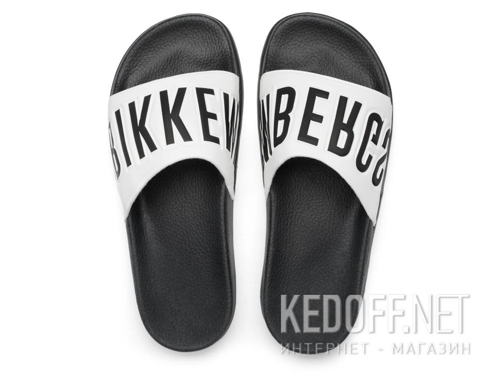 Тапочки Dirk Bikkembergs Swimm BKE 108367-2713 Made in Italy (чёрный/белый)