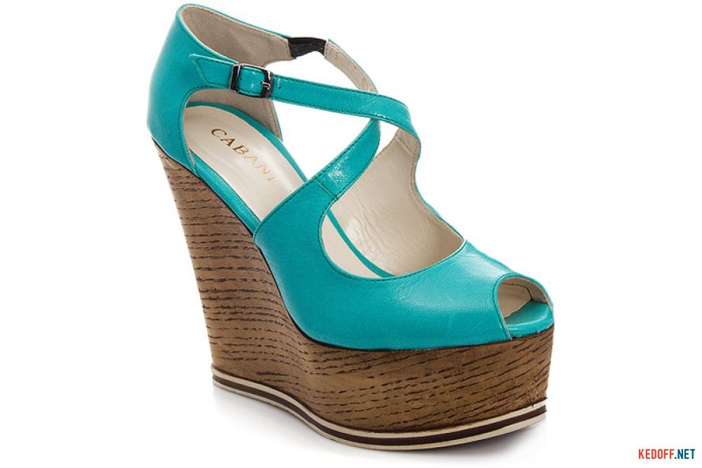 Platform sandals Cabani 81340-21-87 Turquoise