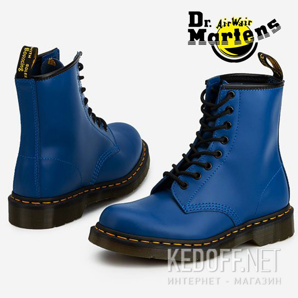 Цены на Черевики Dr.Martens Colour Pop Smooth Blue 1460-DM24614400
