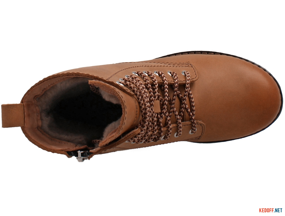Shoes Forester Dark Camel Crazy 3554-26 With wool