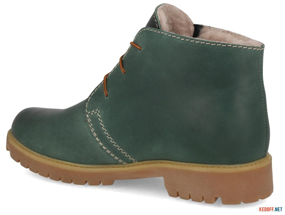 Черевики Forester 3988-22 Зелений, Натуральна шкіра,Вовна