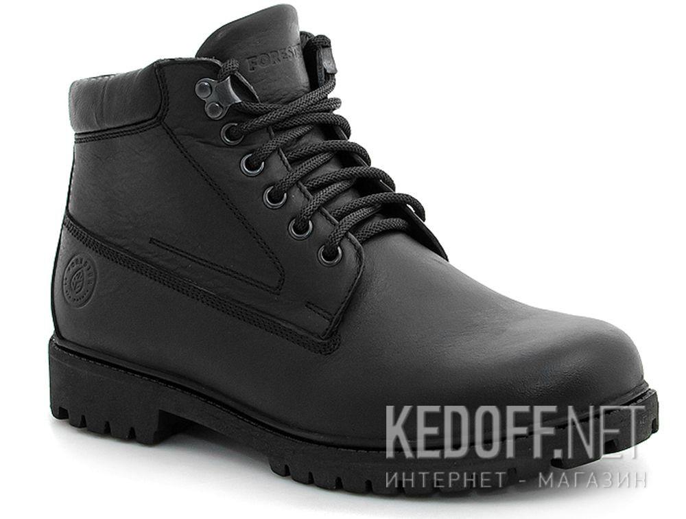Купить Ботинки Forester Black Wood 751-27 Утеплённые мехом