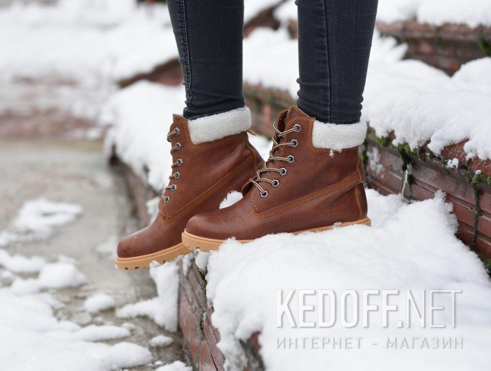 Ботинки Forester Light brown Leather 0610-74  доставка по Украине