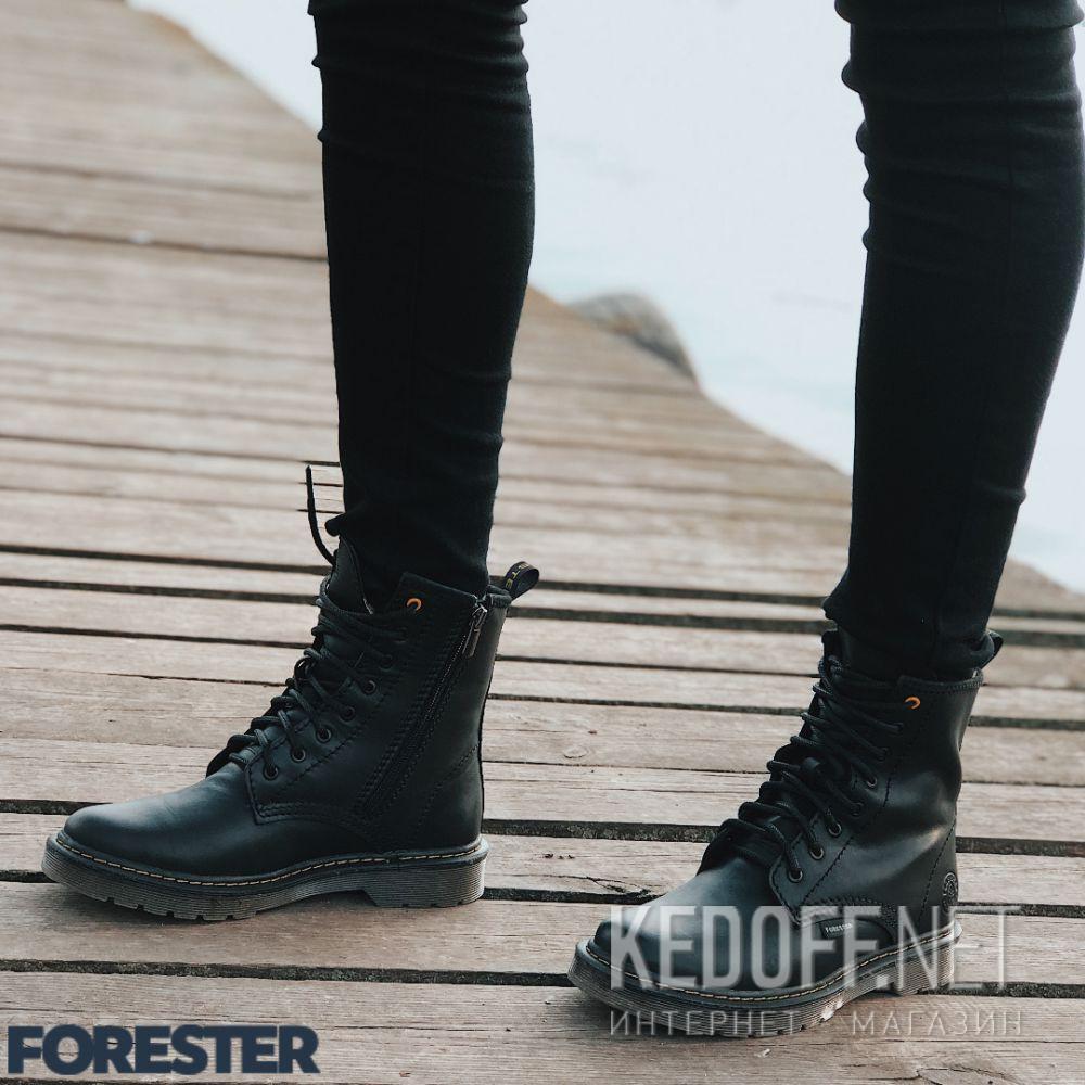 Ботинки Forester Serena Black Zip 1460-27 Фото 12