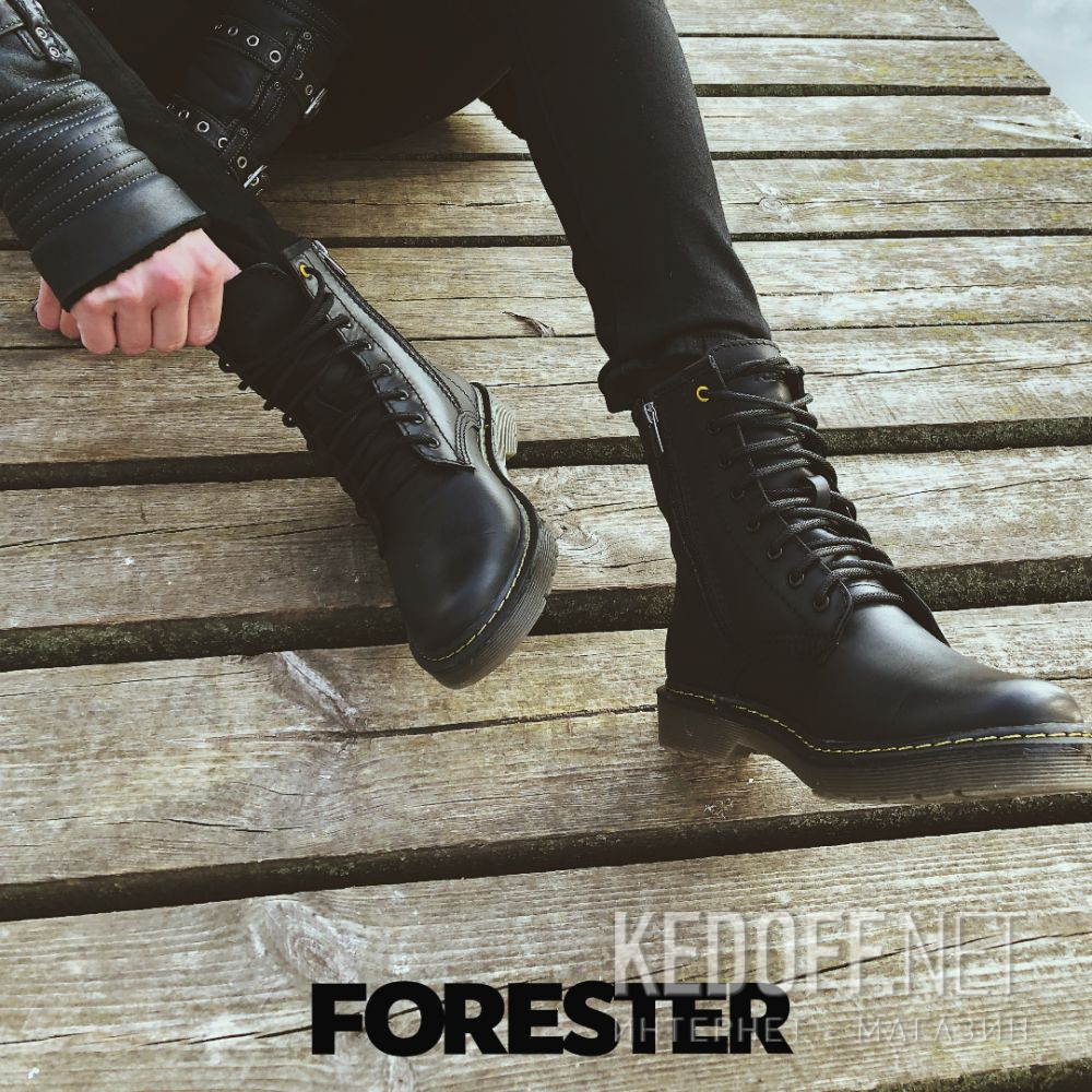 Ботинки Forester Serena Black Zip 1460-27 Фото 13