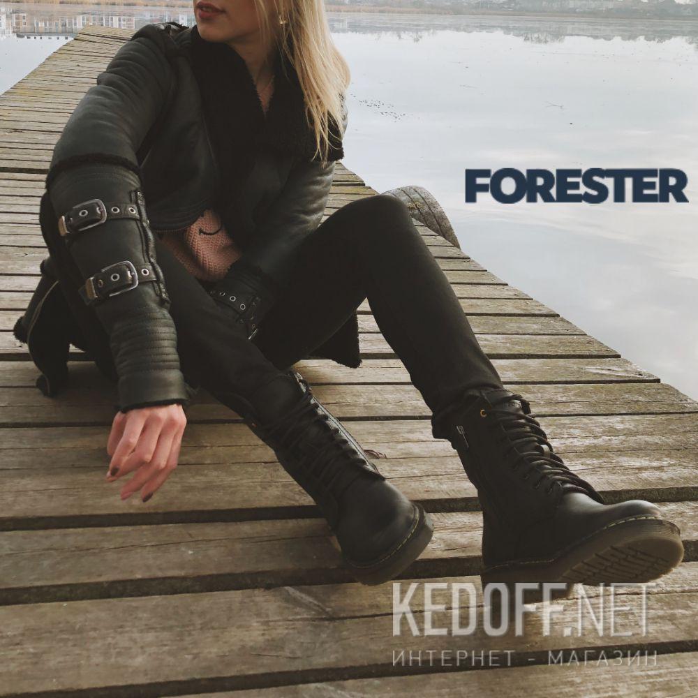 Ботинки Forester Serena Black Zip 1460-27 Фото 14
