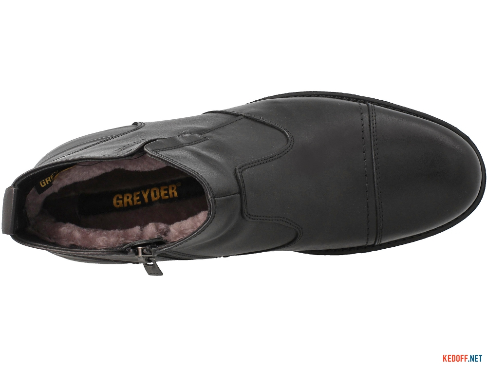 Черевики на хутрі Greyder 65432 Чорна шкіра
